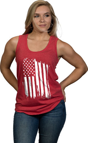 Nine Line Apparel America - Women's Tank Red 2x-large
