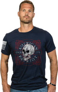 Nine Line Apparel Am Patriot - Men's T-shirt Navy Medium