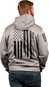 Nine Line Apparel America Tail - Gater Hoodie Grey Heather Med