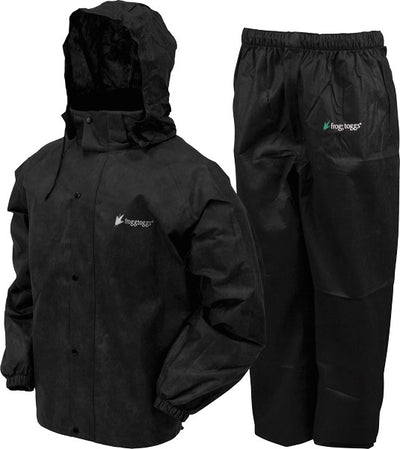 Frogg Toggs Rain & Wind Suit - All Sports Medium Blk-blk
