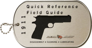 Real Avid 1911 Field Guide - 1911 Maintenane Cards