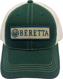 Beretta Cap Trucker W-patch - Cotton Mesh Back Green