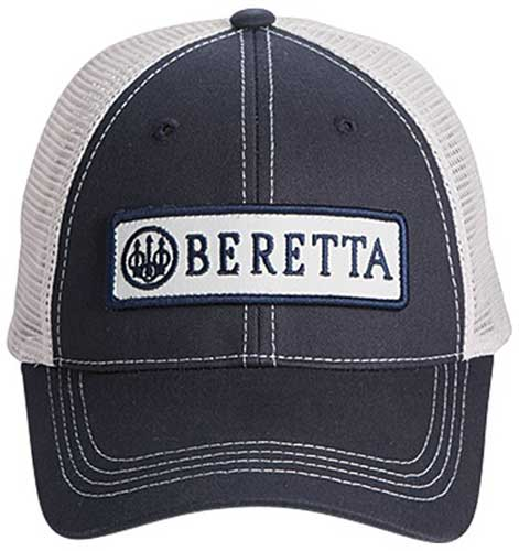 Beretta Cap Trucker W-patch - Cotton Mesh Back Navy Blue