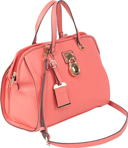Bulldog Concealed Carry Purse - Satchel Coral