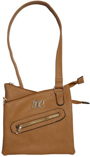 Bulldog Concealed Carry Purse - Cross Body Style Tan