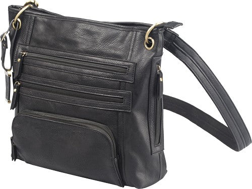 Bulldog Concealed Carry Purse - Large Cross Body Black