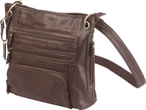 Bulldog Concealed Carry Purse - Large Cross Body Chocolate Brn