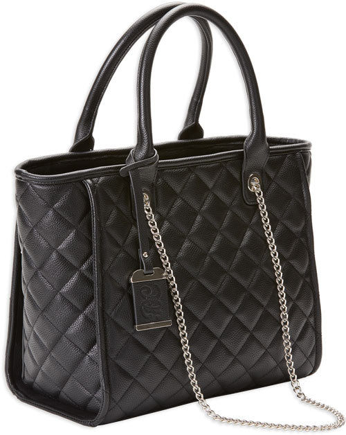 Bulldog Concealed Carry Purse - Quilted Tote Style Black