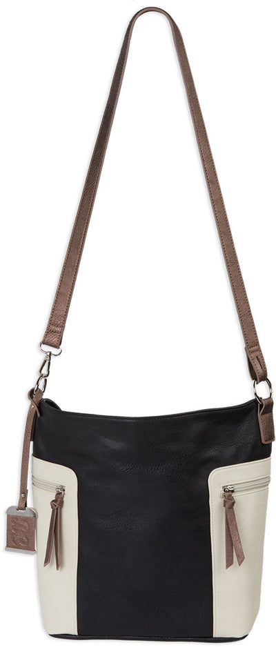Bulldog Concealed Carry Purse - Conv Hobo-crossbody Blk-tan