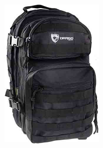 Drago Scout Backpack Black - 5-main Storage Area Heavy Duty