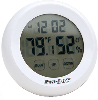 Eva-dry Hygrometer Wirelss - Indoor Tep & Humidity Clock