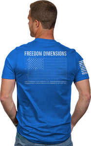 Nine Line Apparel Freedom Dims - Men's T-shirt Royal 3x-large