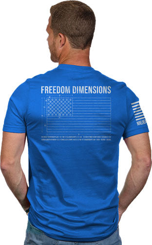 Nine Line Apparel Freedom Dims - Men's T-shirt Royal X-large
