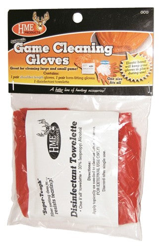 Hme Game Cleaning Glove Combo - Shoulder & Wrist W-towlette