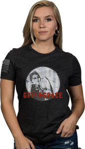 Nine Line Apparel Grit & Grace - Women's T-shirt Hthr Grey Lrg