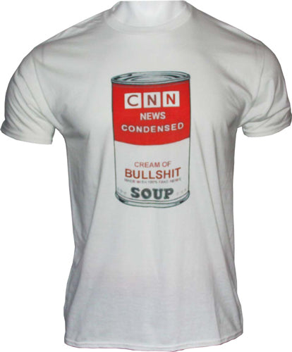 Gi Men's T-shirt Cnn News - Condensed Soup Medium White