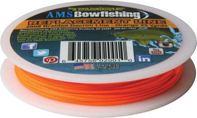 Ams Bowfishing Replacement - Line Orange #200 25 Yards