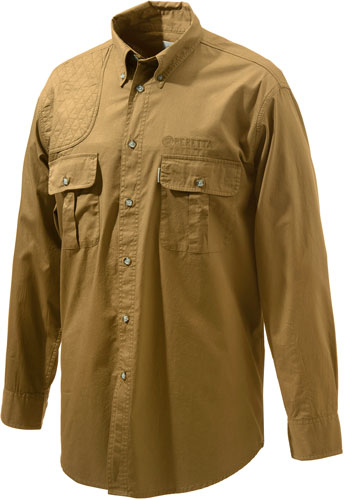 Beretta Shooting Shirt Small - Long Sleeve Cotton Tan