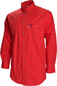 Beretta Shooting Shirt X-large - Long Sleeve Cotton Red<