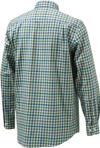 Beretta Men's Drip Dry Long - Sleeve Beige Check Large
