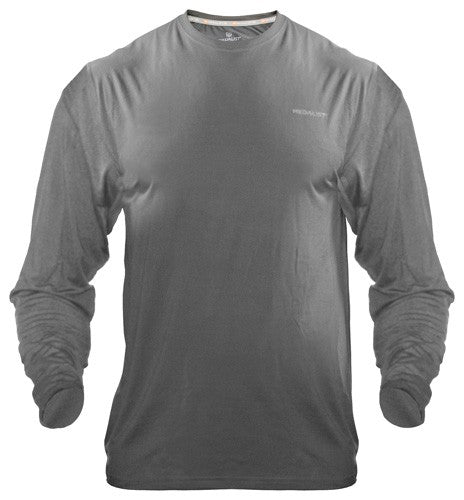 Medalist Performance Crew Ls - Tactical Shield Charcoal Med
