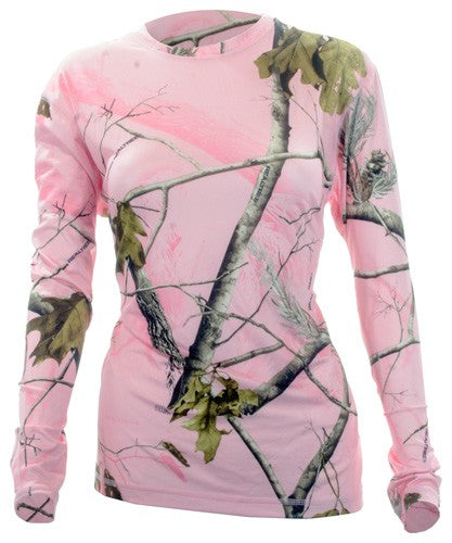 Medalist Womens Performance - Crew Ls Level-2 Pink Camo Med