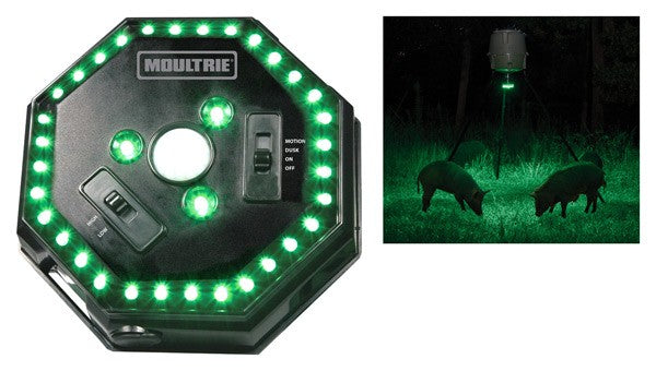 Moultrie Feeder Hog Light 30' - Radius Green Led Motion Activa