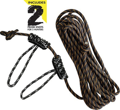 Muddy Life-line 30' W- Double - Rope Loops Reflective Rope