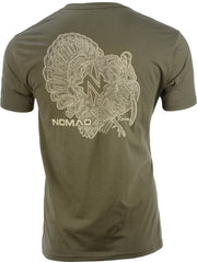 Nomad Turkey Topo Men's Tshirt - Mltry Olive Drab Small