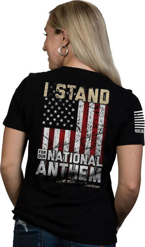 Nine Line Apparel I Stand - Women's T-shirt Black Medium