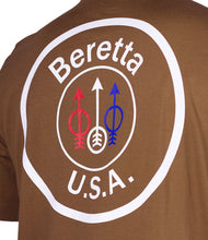 Load image into Gallery viewer, Beretta T-shirt Usa Logo - Small Tobacco Brown
