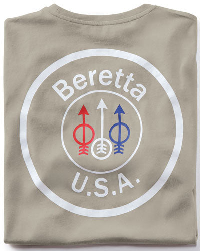 Beretta T-shirt Usa Logo - Medium Dove Grey