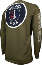 Load image into Gallery viewer, Beretta T-shirt Long Sleeve - Usa Logo X-large Od Green