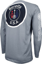 Load image into Gallery viewer, Beretta T-shirt Long Sleeve - Usa Logo X-large Dove Gray