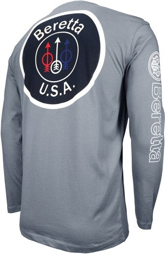 Beretta T-shirt Long Sleeve - Usa Logo X-large Dove Gray