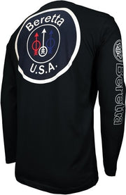 Beretta T-shirt Long Sleeve - Usa Logo Large Black
