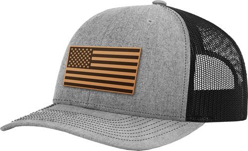 Printed Kicks Usa Flag Leather - Patch Mesh Back Hat Hthr-black