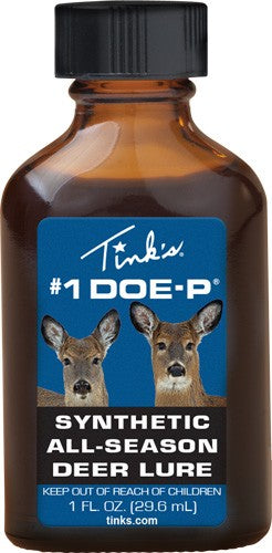 Tinks Deer Lure #1 Doe-p Non - Estrus Synthetic 1fl Oz Bottle