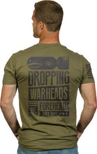 Load image into Gallery viewer, Nine Line Apparel Warheads On - Forheads Men's T-shirt Grn Lrg