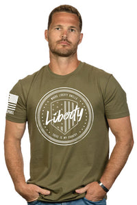Nine Line Apparel Liberty Crcl - Men's T-shirt Green Small