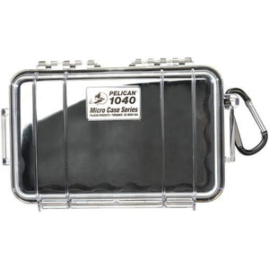 Pelican 1040 Micro Case Clear - W- Black Liner Id 6.5x3.9x1.8""