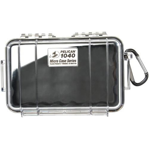 Pelican 1040 Micro Case Clear - W- Black Liner Id 6.5x3.9x1.8
