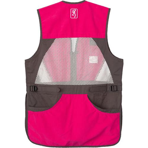 Bg Summit Shooting Vest Womens - Medium Smoke-fuchsia