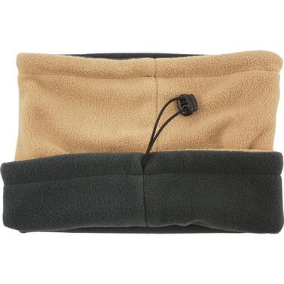 Red Rock Fleece Neck Gaiter - Coyote Reverses To Gray