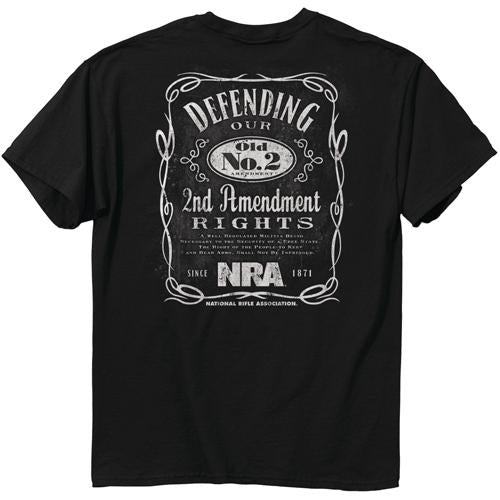 "Buck Wear T-shirt Nra ""old - No.2"" Black Large"