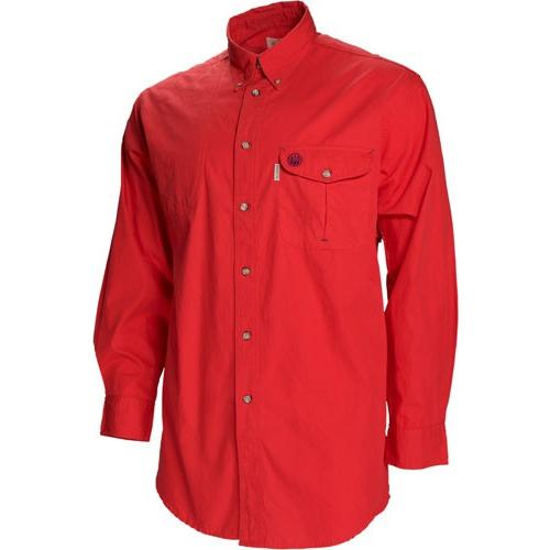 Beretta Shooting Shirt Large - Long Sleeve Cotton Red<