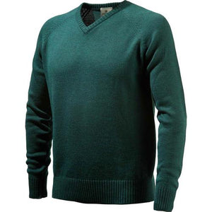 Beretta Men's Classic V-neck - Sweater Dark Green Medium