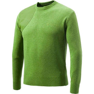 Beretta Men's Classic Round - Neck Sweater Medium Lgt Green