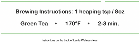 Lamie Wellness Brewing Instructions On The Back Of Our Packaging