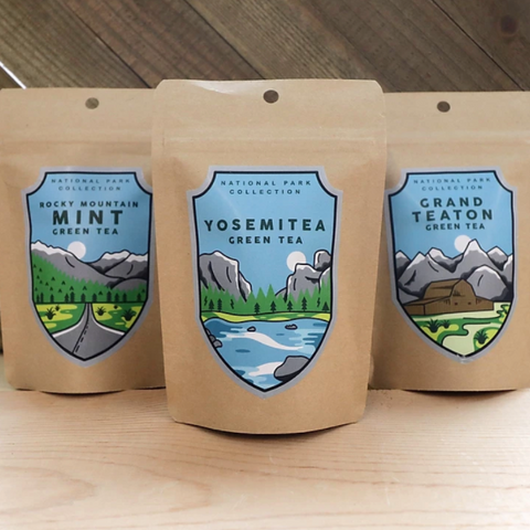 National Park Teas in Stand up Pouches